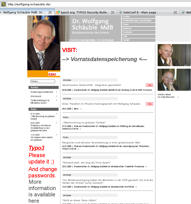 wolfgang schaeuble hack screenshot